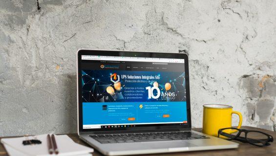 Página web  UPS Soluciones Integrales