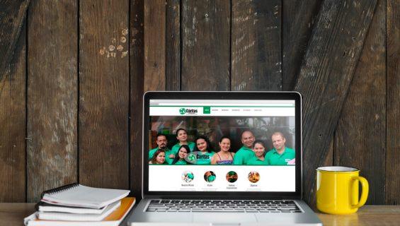 Página web Fundación Cáritas