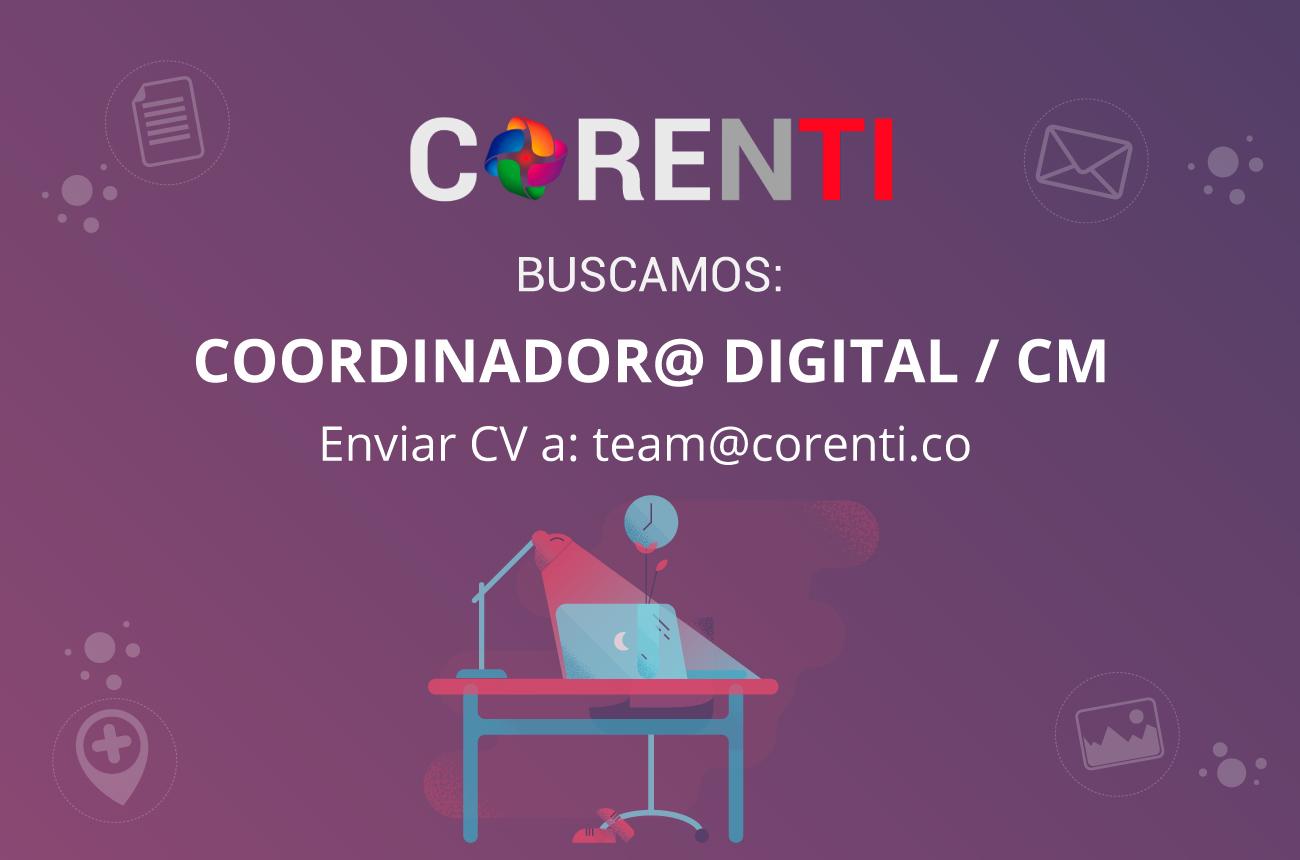 Buscamos coordinador/a digital & CM