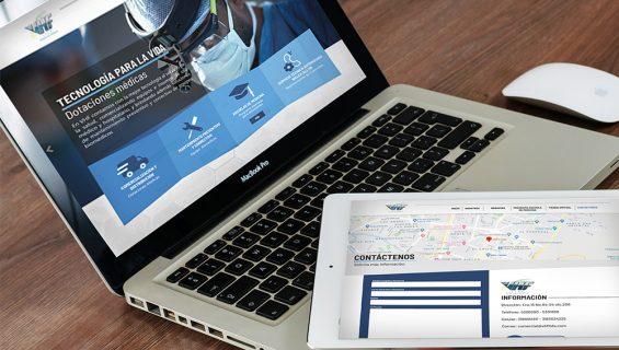 Página Web VHF LTDA
